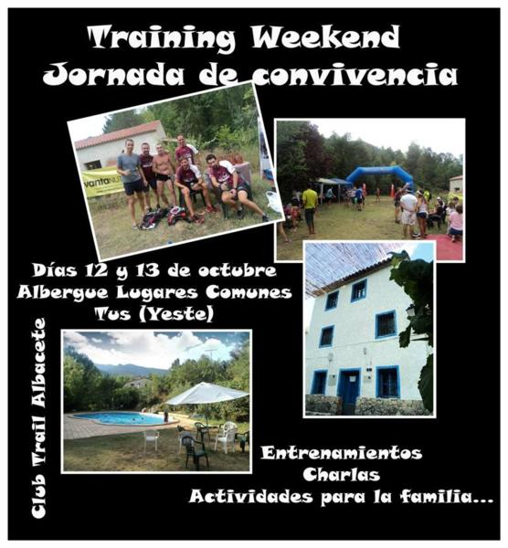"Training Weekend ""Jornada de convivencia"" 12 y 13 de octubre"